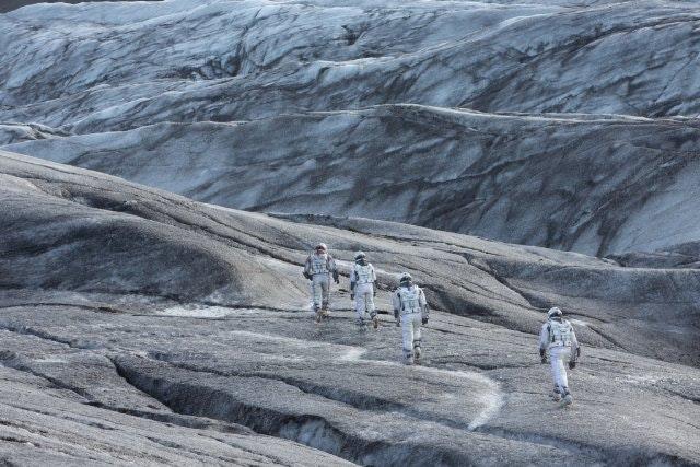 A scene from Interstellar shot on Svnafellsjkull glacier tongue