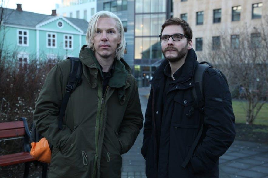 Daniel Brühl bei Dreharbeiten in Reykjavik
