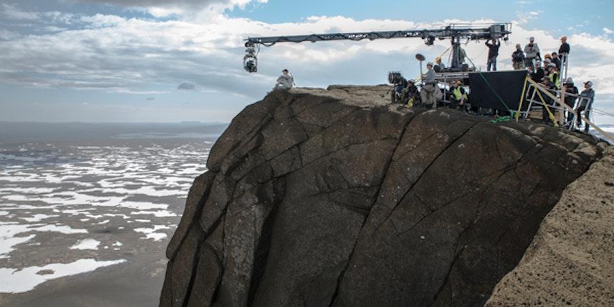 Fra innspillingen av Oblivion ved Jarlhettur på Island