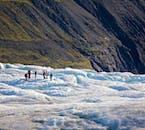 Svínafellsjökull glacier has beautiful seascapes.