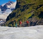 Glacier hiking in the Skaftafell Nature Reserve in Vatnajökull National Park is a wonderful bonding experience.