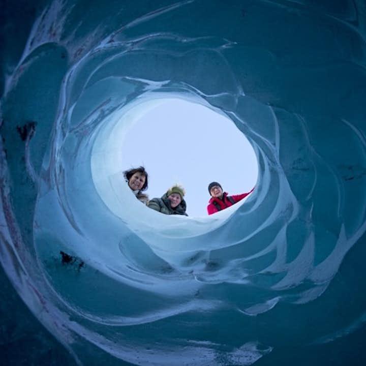 솔헤이마요쿨 빙하 하이킹과 남부해안 투어|쉬운 난이도