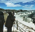 Gullfoss, 'The Golden Waterfall', makes for an excellent subject for photographers, amateur and professional alike.