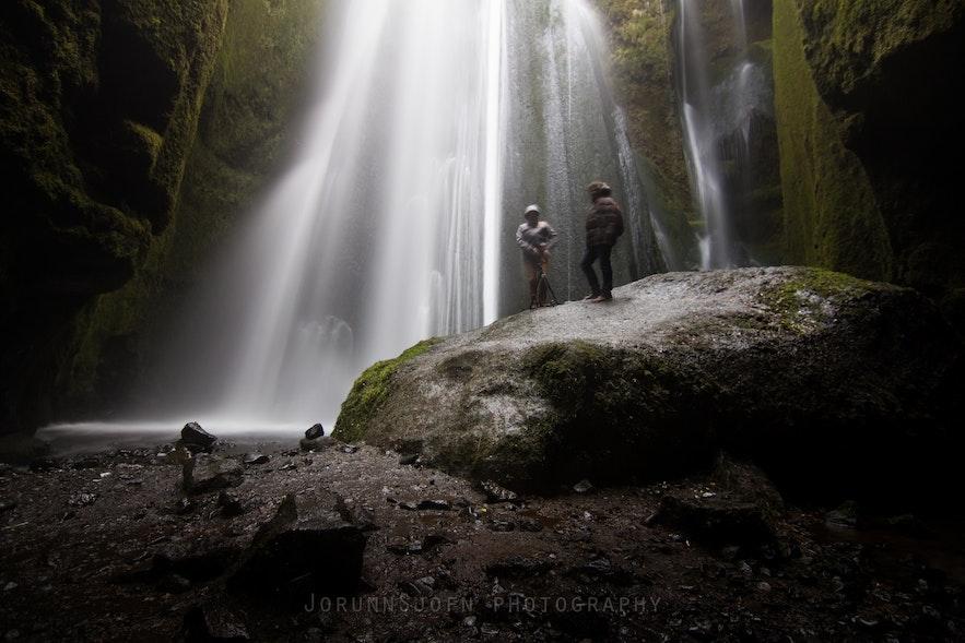 Wodospad Gljúfrabúi, południowa Islandia