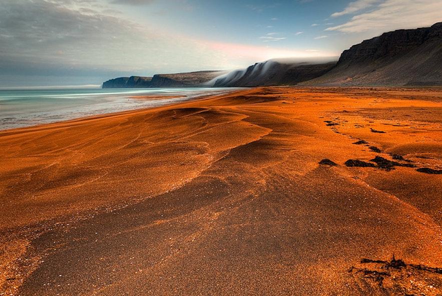 Rauðisandur, dans les fjords de l'Ouest