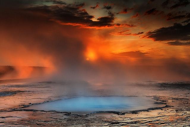 冰岛内陆高地的Hveravellir