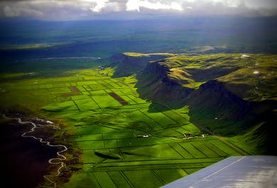 Airplane Tour of Eyjafjallajokull and the South Coast