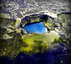 Iceland has a great number of differently sized craters and crater lakes.