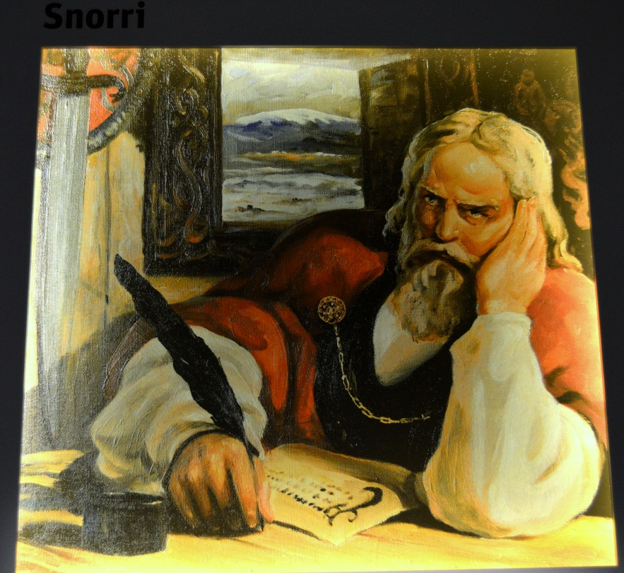 his painting of Snorri was paintedby Haukur Stefánsson in 1933.
