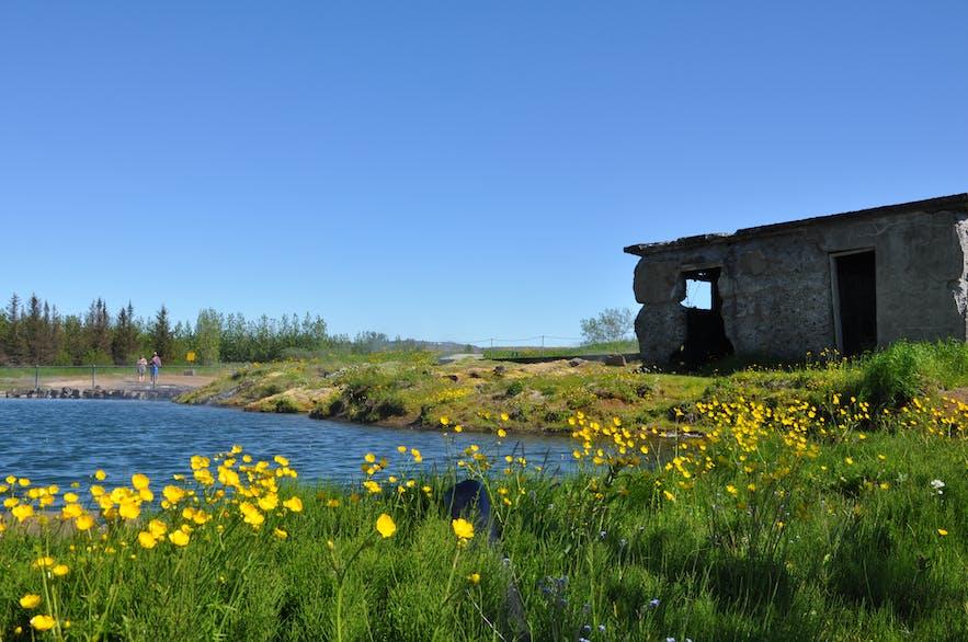 Die Secret Lagoon in Flúdir