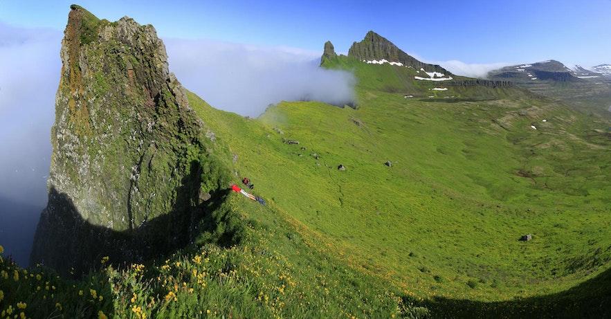 ฮอร์นสตรานดิร์ ที่ฟยอร์ดทางตะวันตกของประเทศไอซ์แลนด์