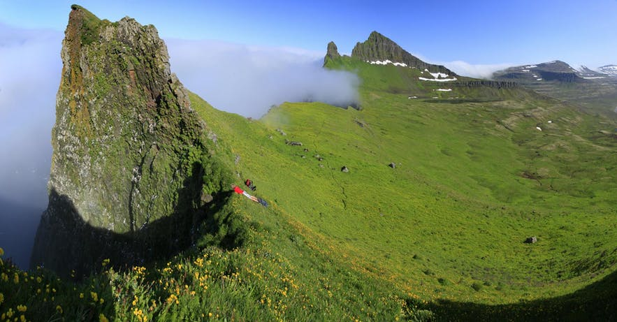 Hornstrandir ved Islands Vestfjorde