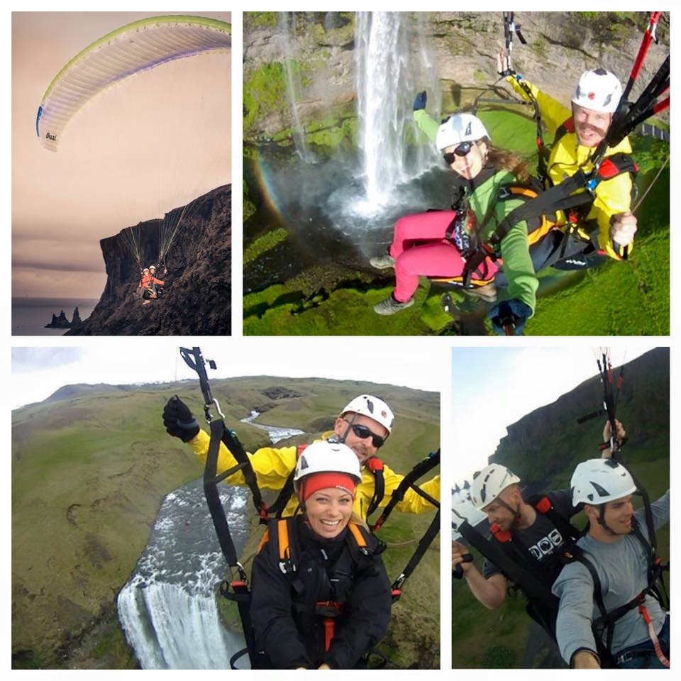 Self Drive Paragliding Adventure Day Tour from Reykjavik to Vik, South Iceland