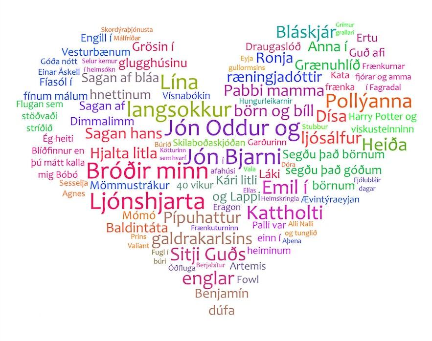 Icelandic titles of children's books
