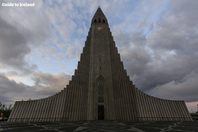 Hallgrímskirkja church is one of the most distinguishing features of Reykjavík skyline.