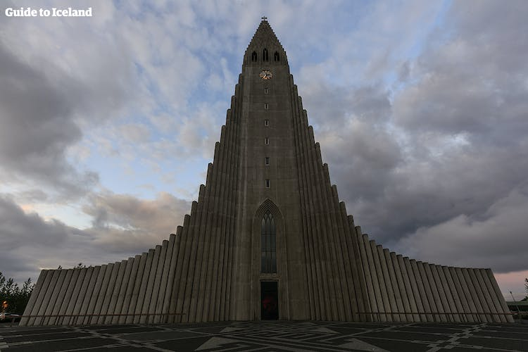 Hallgrímskirkja church is one of the most distinguishing features of Reykjavík skyline.