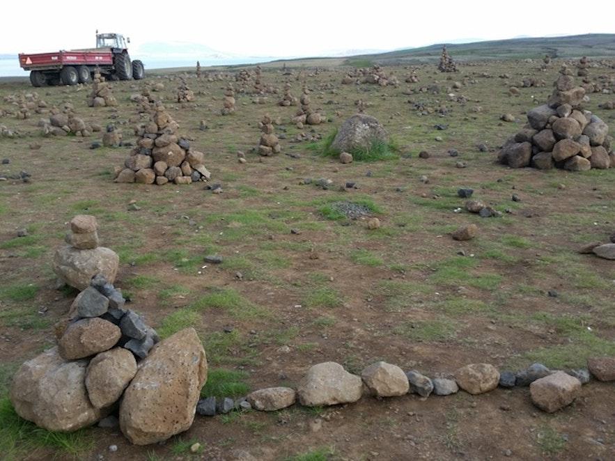 ne faites pas de tas de pierre en Islande