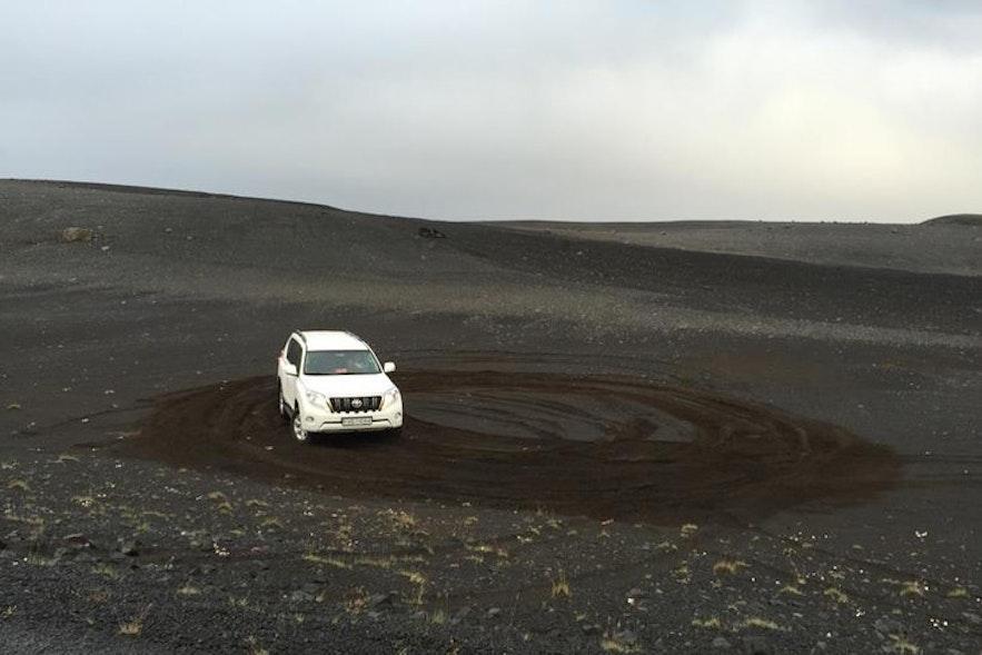 Zerstörte Landschaft in Island