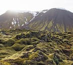 Leiðarendi cave hides under the mossy lava fields of the Reykjanes Peninsula in south-west Iceland.
