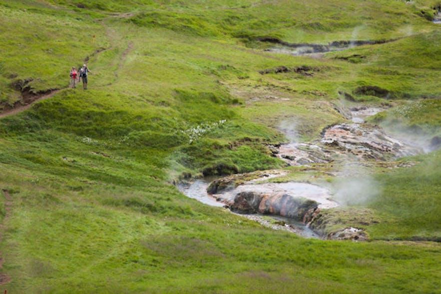 レイキャダルルにあるハイキングコース