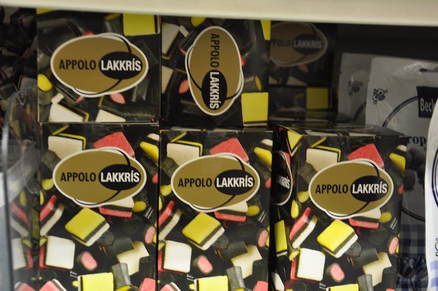 カラフルなリコリスのお菓子のパッケージ