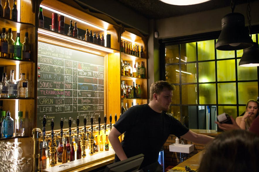 Skúli Craftsbar is the most sophisticated of the Craft Bar options in Reykjavik.