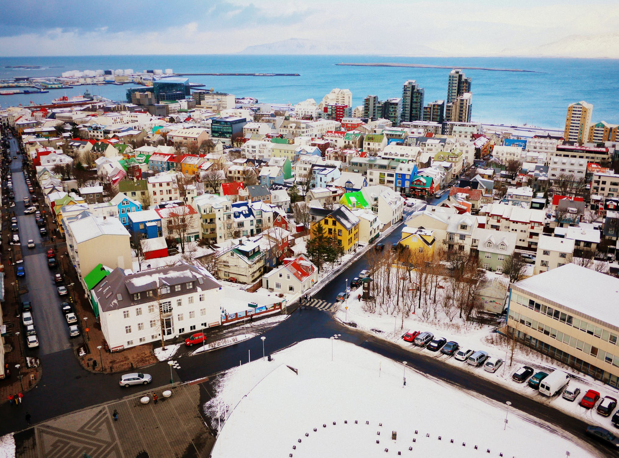 Reykjavík in wintertime