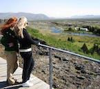 골든써클의 씽벨리어국립공원의 아름다운 풍경을 내려다 볼 수 있는 알마나기아 고르지(Almannagjá gorge) 위의 전망대