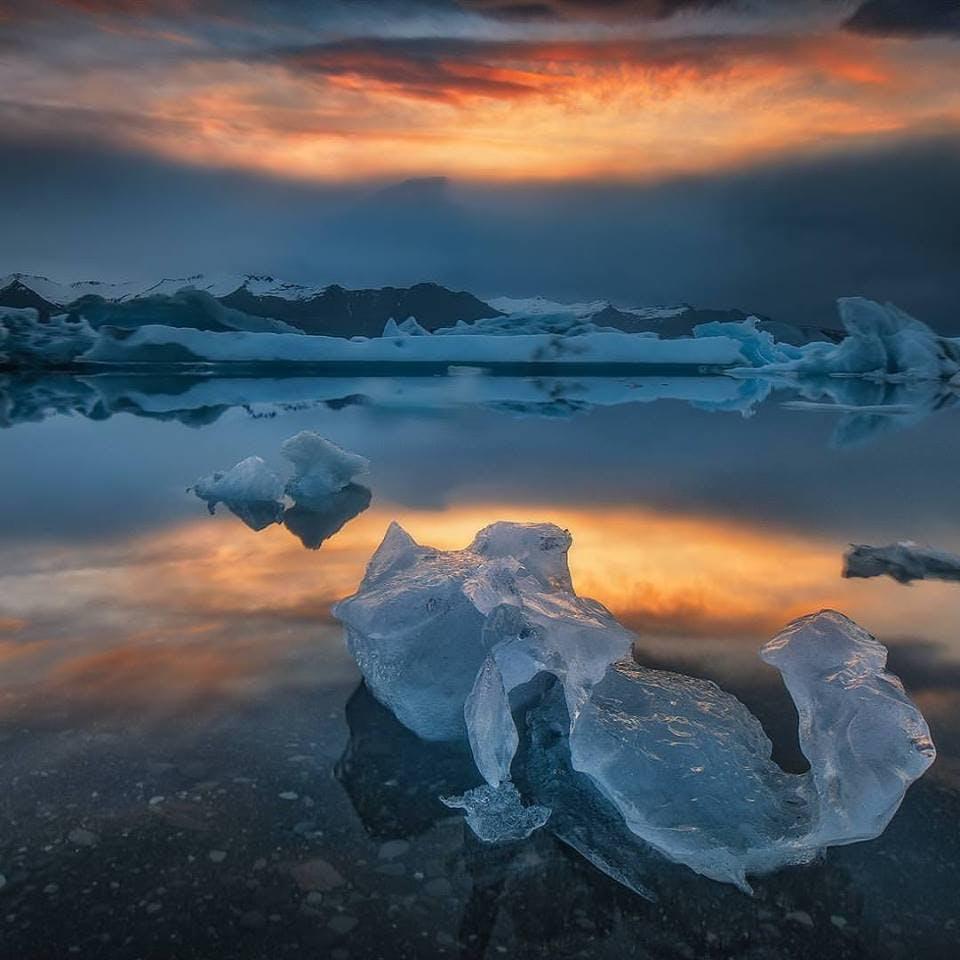 6 dni, samodzielna jazda: Jokulsarlon, jaskinia lodowa i diamentowa plaża