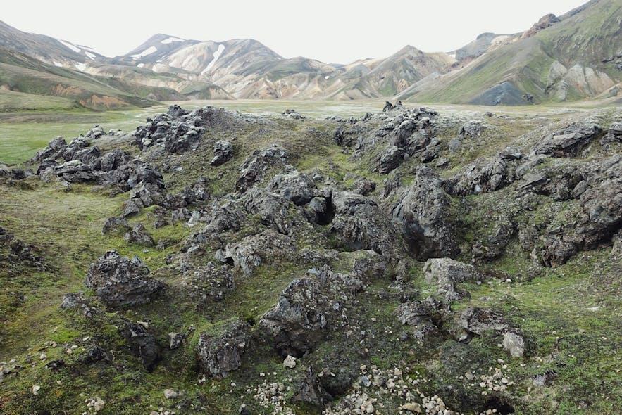 冰岛兰德曼纳劳卡内陆高地
