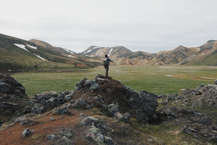 冰岛内陆高地名景兰德曼纳劳卡
