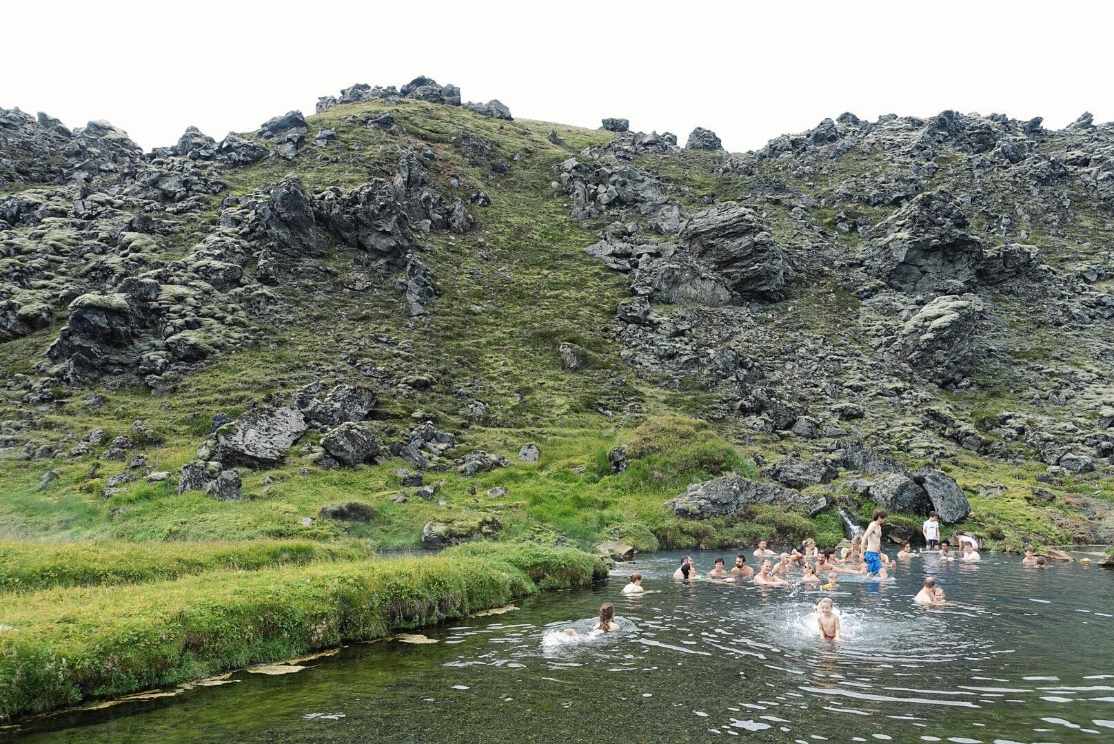 冰岛内陆高地兰德曼纳劳卡天然野温泉
