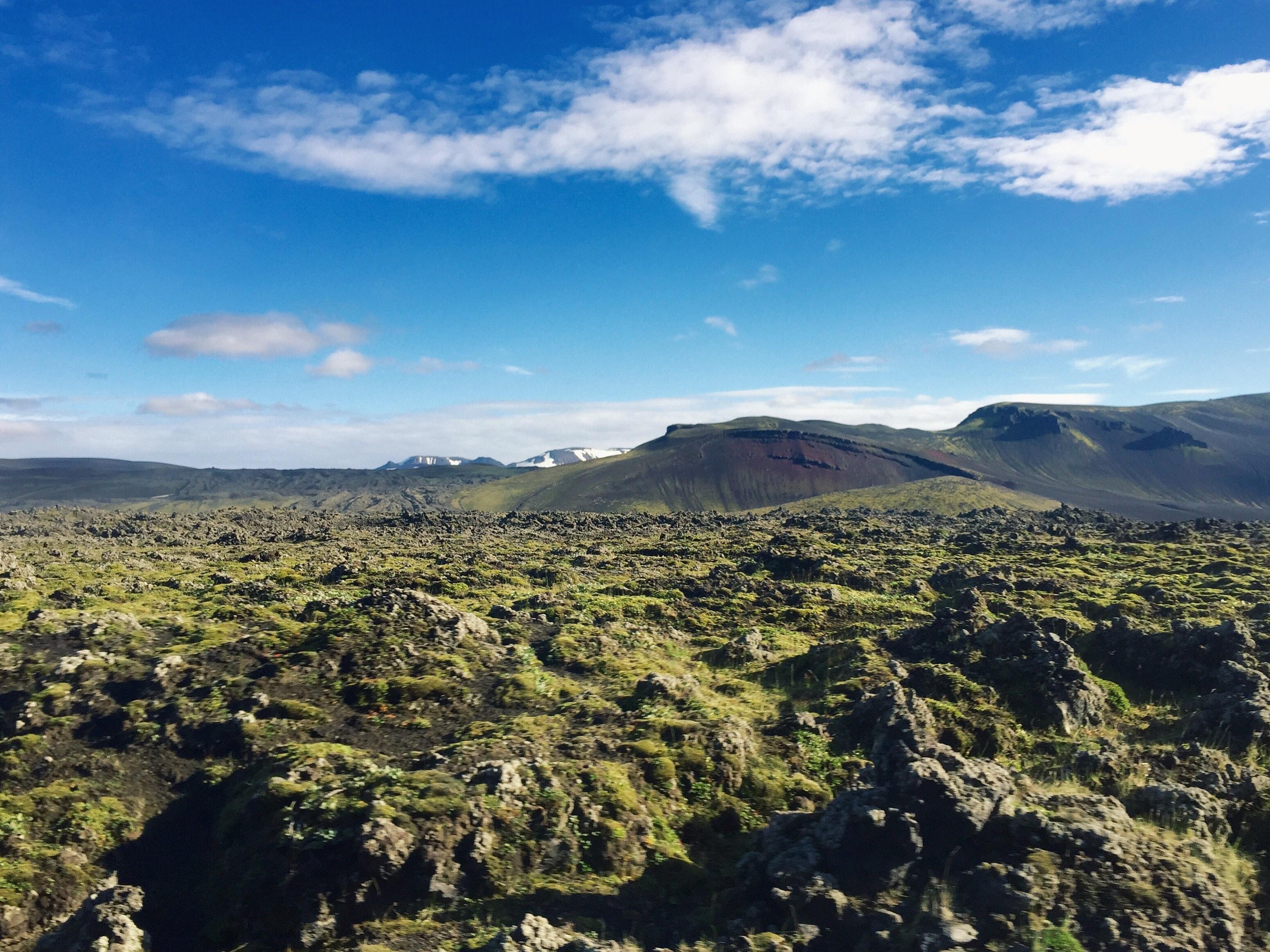 冰岛内陆高地兰德曼纳劳卡沿路风景