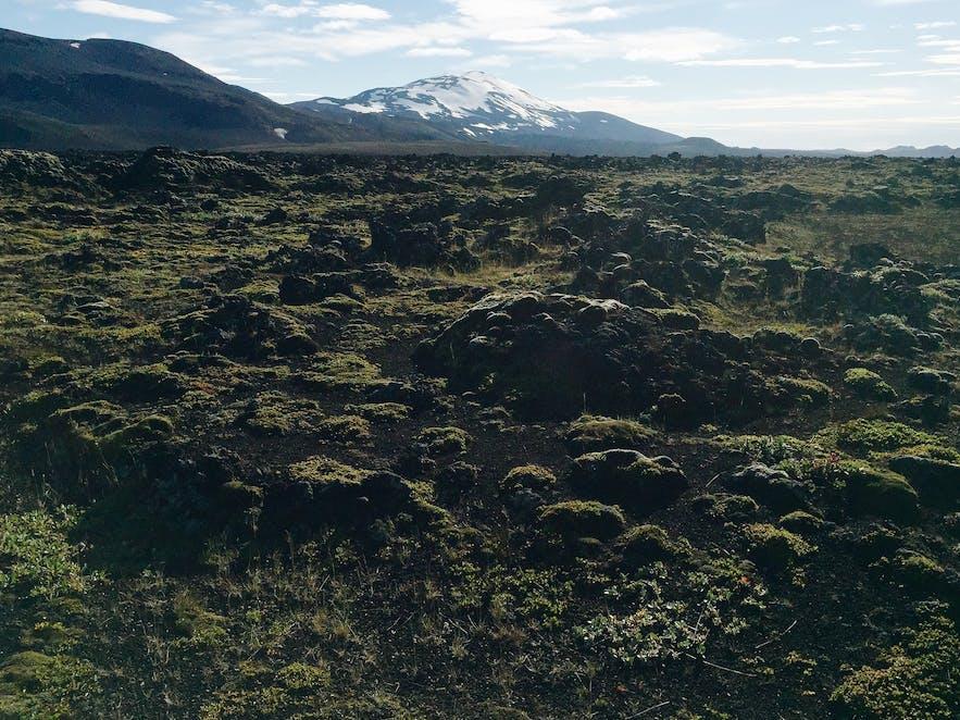 冰岛内陆高地赫克拉火山