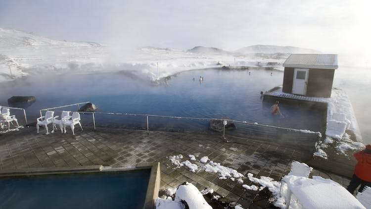 Travellers to the north can find an excellent geothermal pool at the Mývatn Nature Baths.