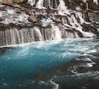 Hraunfossar's water originates from beneath the lava field, Hallmundarhraun.