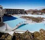 Голубая лагуна находится на месте геотермальной станции, которая впоследствии превратилась в спа-комплекс