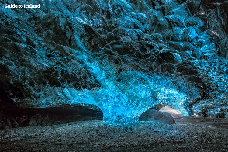 The textures of the ice caves can be explained by scientific processes, which you guide will tell you all about.