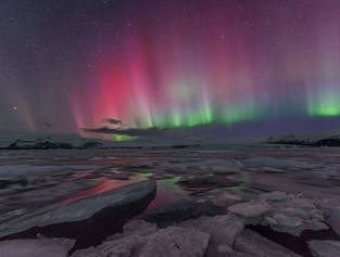 Amazing 6 Day Northern Lights Winter Self Drive Tour on Iceland's South Coast with Ice Caving