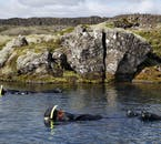 Your drysuits don't just keep you warm, they also keep you afloat when swimming in Silfra fissure.