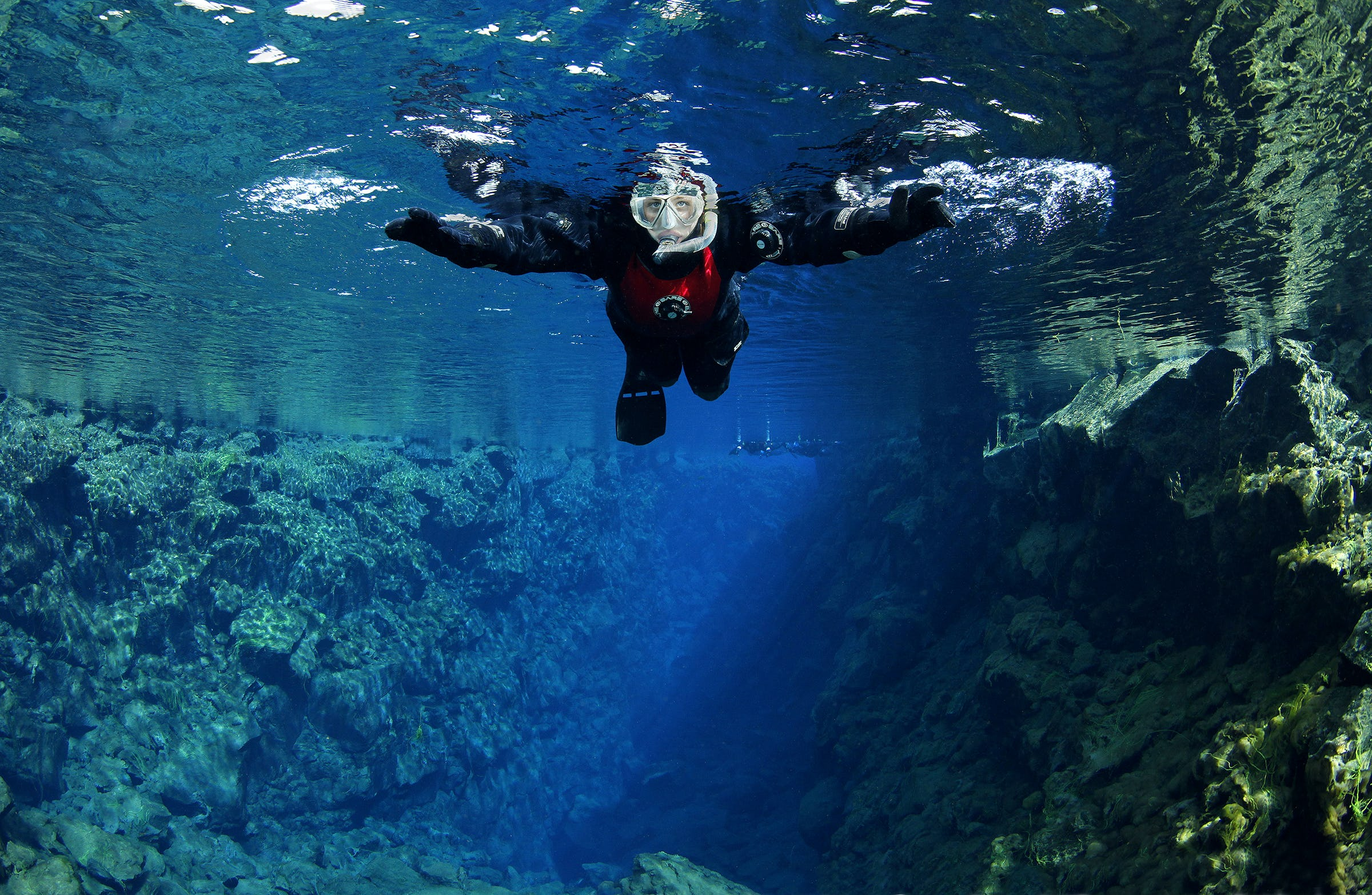 Snorkelling is a magical experience in Silfra fissure.