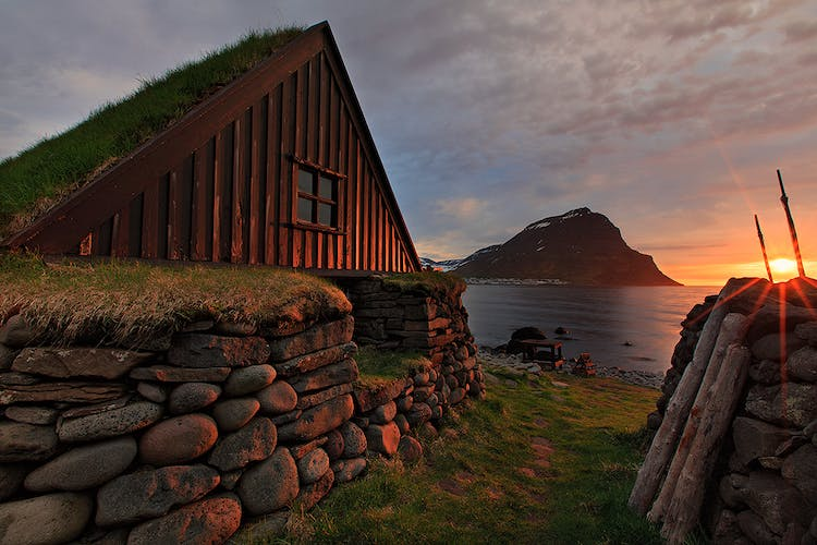 Icelanders lives for centuries in turf houses, just like these.