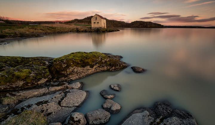 Lake Lögurinn in East Iceland is said to be home to Lagarfljótsormurinn, a serpent monster that hides beneath the surface.