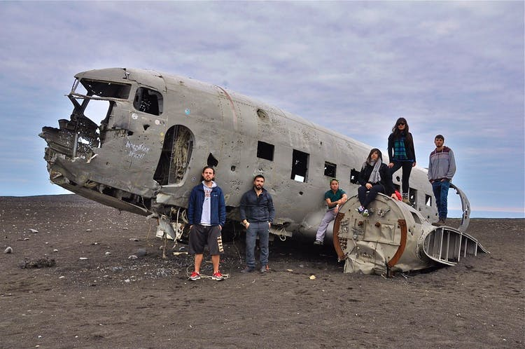 The forces of Iceland's winters have had a dramatic effect on the DC plane in south Iceland since it crashed here in 1973.