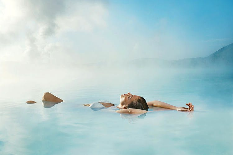 Visiting the Blue Lagoon geothermal spa is the best way to end your Iceland adventure.