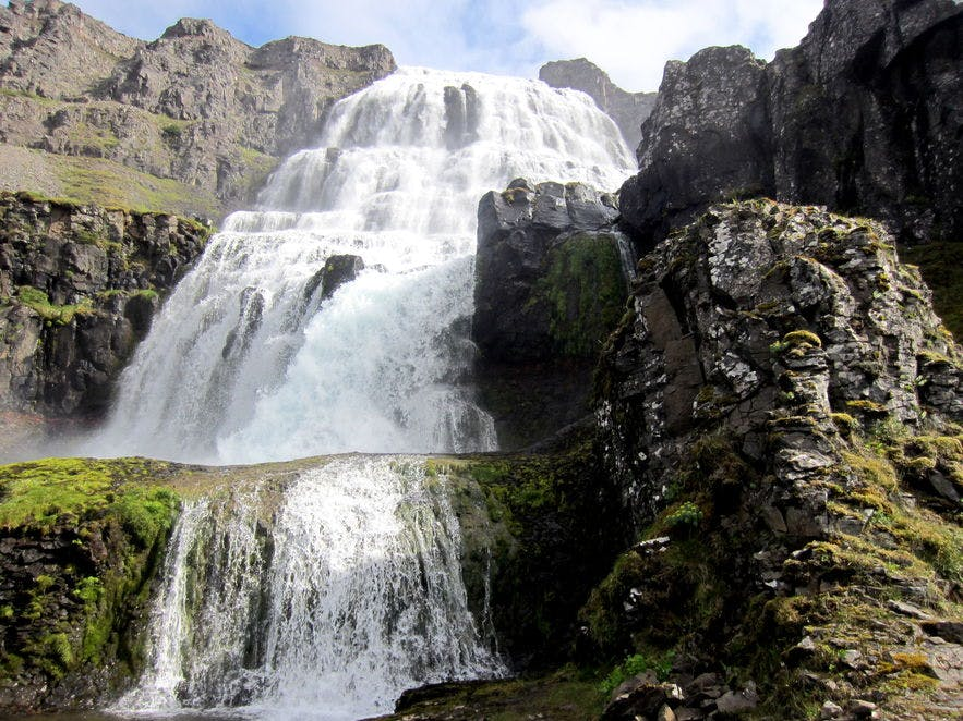 Dynjandi waterfall in the Icelandic Westfjords