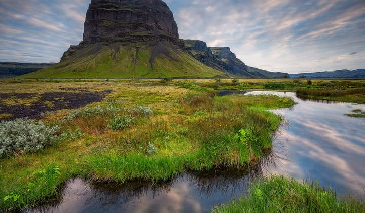 Lómagnúpur is one of the most strangely shaped mountains on the South Coast of Iceland.