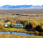 Þingvellir National Park is situated on the Mid-Atlantic Ridge, directly between the North American and Eurasian tectonic plates.
