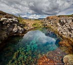 Iceland's most famous sightseeing route, the Golden Circle, includes a stop at Þingvellir National Park.