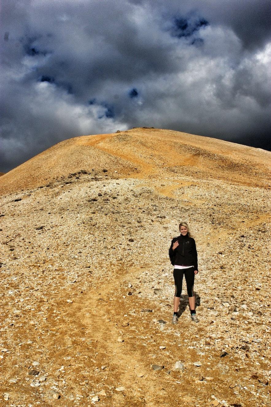 Hiking Moskardshnjukar Iceland